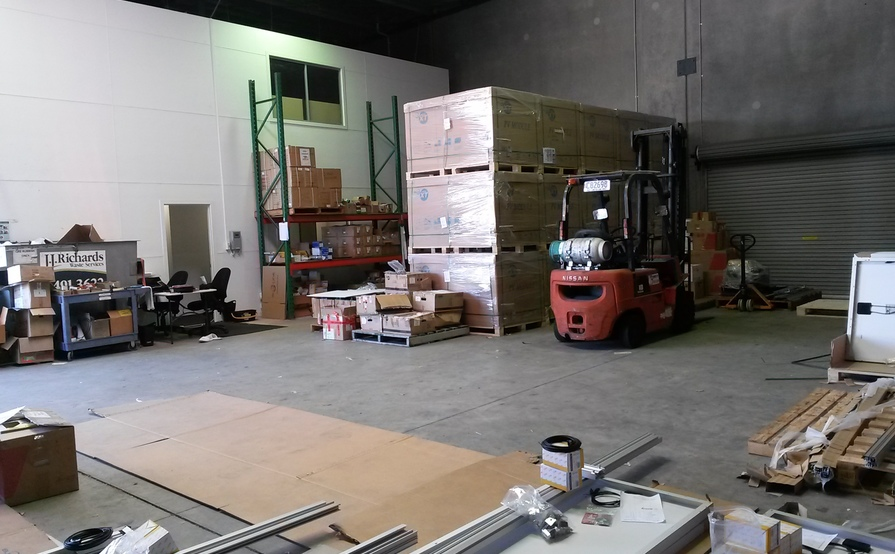 One pallet size storage in a warehouse in Sunshine Coast - Coolum Beach