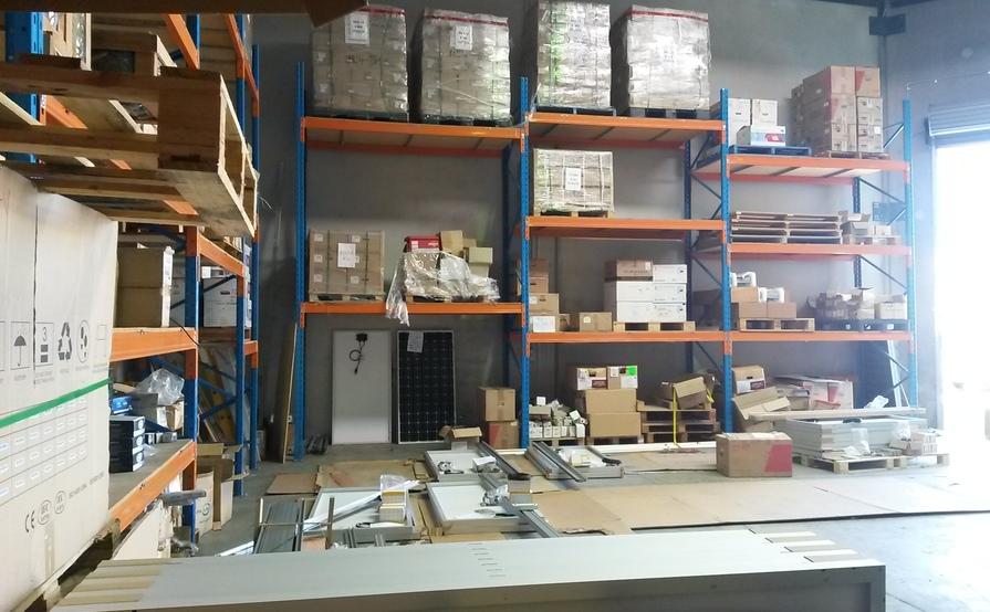 Nine pallet size storage in a warehouse in Sunshine Coast - Coolum Beach