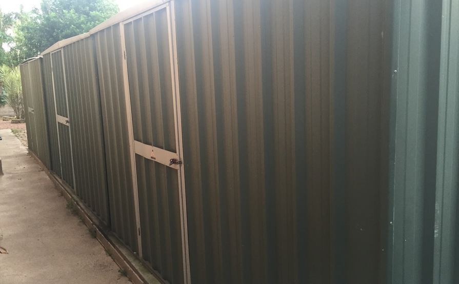 Carseldine - Three large garden sheds for storage!