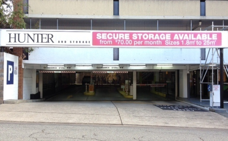 18 sqm Secure Storage with 24/7 Access Newcastle CBD (Car Park Level 1)