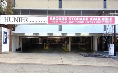 18 sqm Secure Storage with 24/7 Access Newcastle CBD (Car Park Level 1)