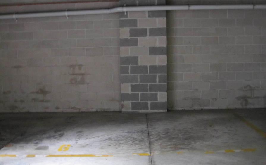 Secure underground car parking space