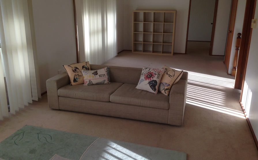Furnished queen size bedroom