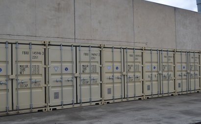 Secure Shipping Container Storage