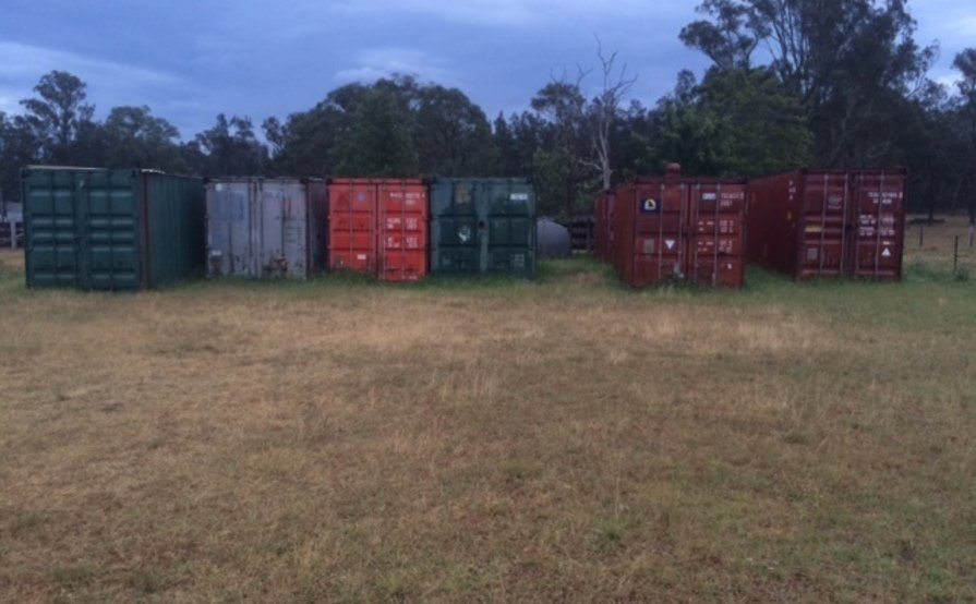 Shipping container storage - 40 foot container