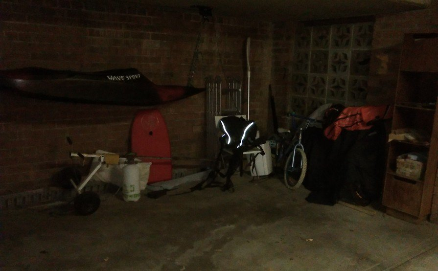 Carspace in garage, good for storage.