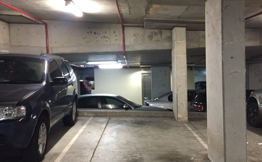Underground security roller-door car park. Remote control tag for 24/7 access - Convenient Chatswood location. (Available on 20-Sept 2017)