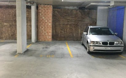Secure underground car space in Lane Cove