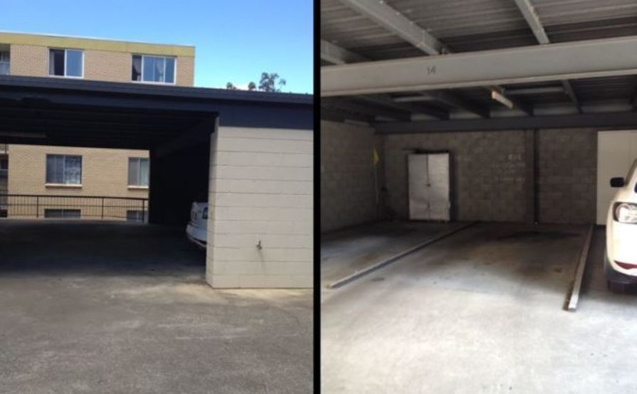 single carport at QUT KG campus (herston road)