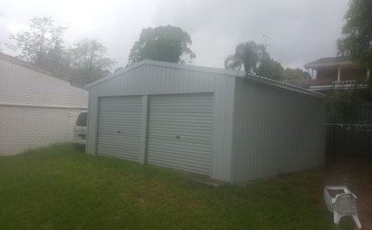 Secure Huge 6x6 metre Double Shed with 3 metre pitched roof on waterproof concrete slab