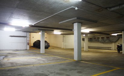Undercover car park with security access