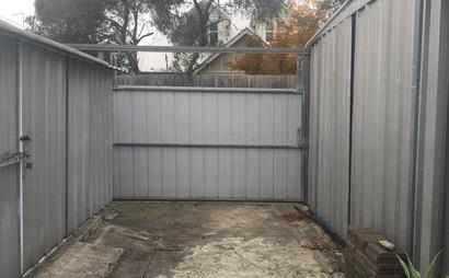 Huge secure backyard garage 5.9 x 3.7 in Preston!