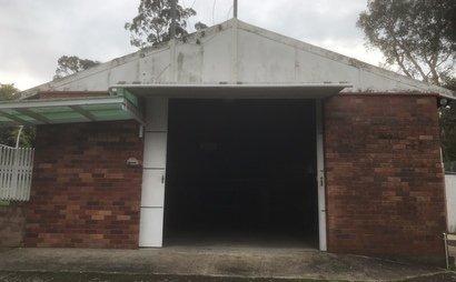 84 sqm storage shed for lease + single car garage.