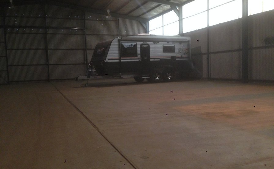 Horsham - Huge Secured Shed for Caravan Storage