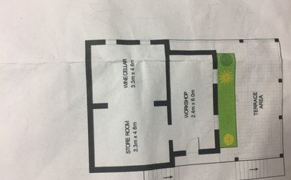 Large basement under the house for storage