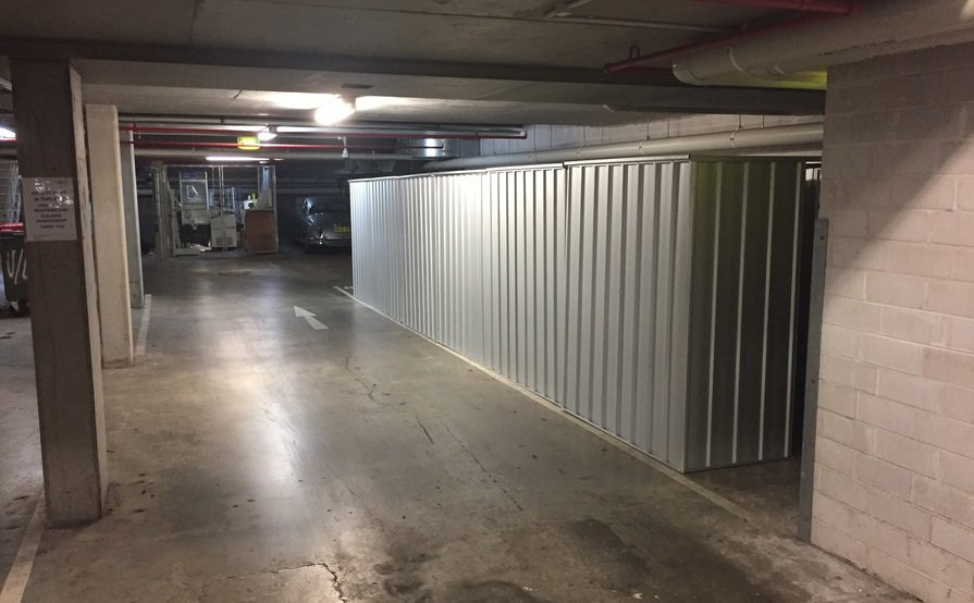 2 Secure Storage Sheds at UniLodge