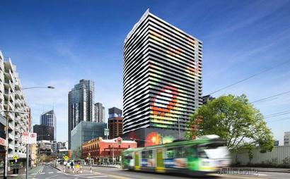 parking next to RMIT, Uni Melbourne, Queensberry tram stop