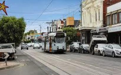 Secure car space on tram line