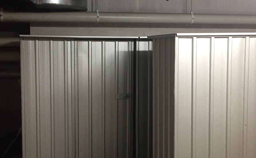 Secure Storage Shed #10 at UniLodge 1.5m x 0.8m x 1.8m