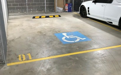 Car park space -1.5x size in underground locked up garage (disabled - no badge required!)