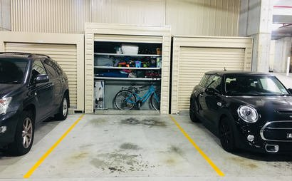 Secure indoor car parking space in Potts Point with storage space - 24 hour access