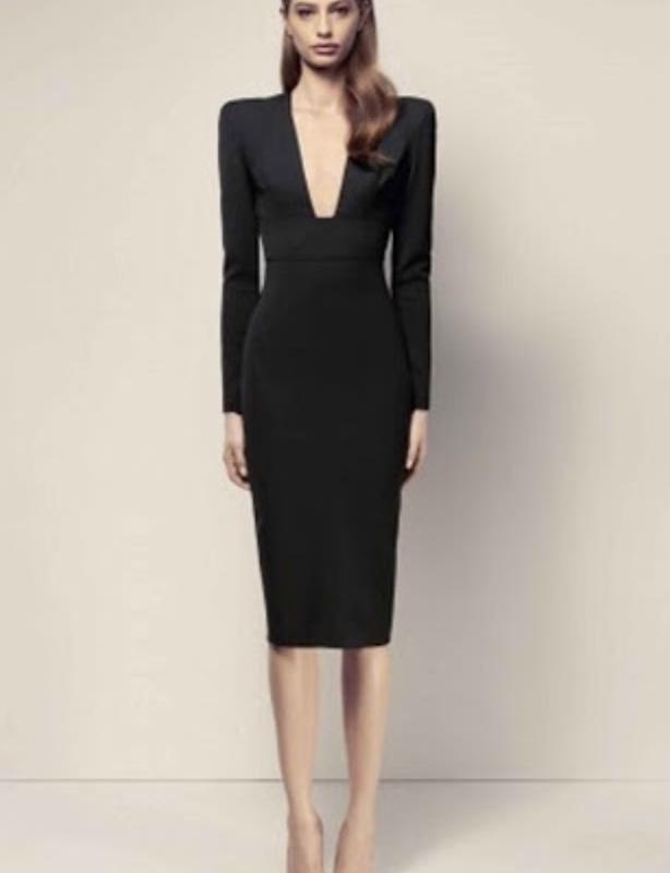 Alex Perry Black Maura V Pencil Dress size 10