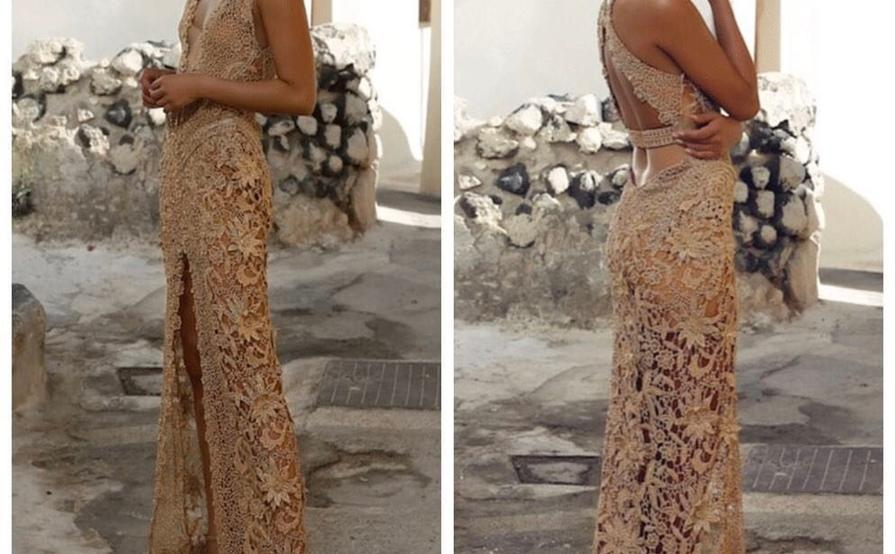Galanni Atticus Gold Dress Size 6 The Volte