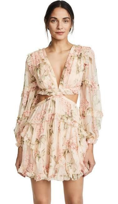 402f9b6eacc67 Zimmermann Prima floating cut out pink dress size 8 | The Volte