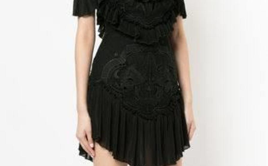Alice Mccall Lovebirds Black Mini Dress Sz0 The Volte
