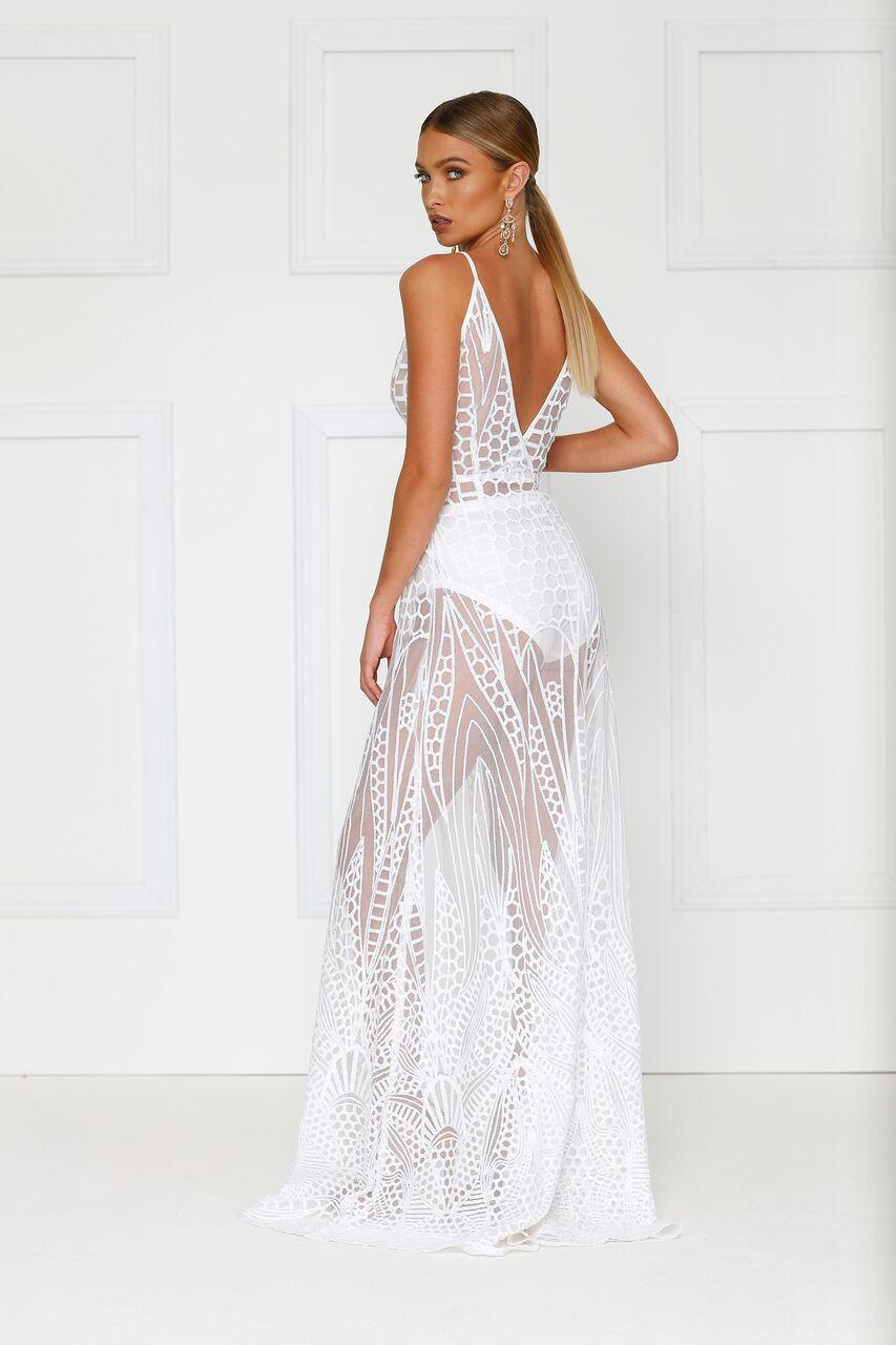 4d5faa7dc06 ... Alamour The Label - Cristal Dress White ...