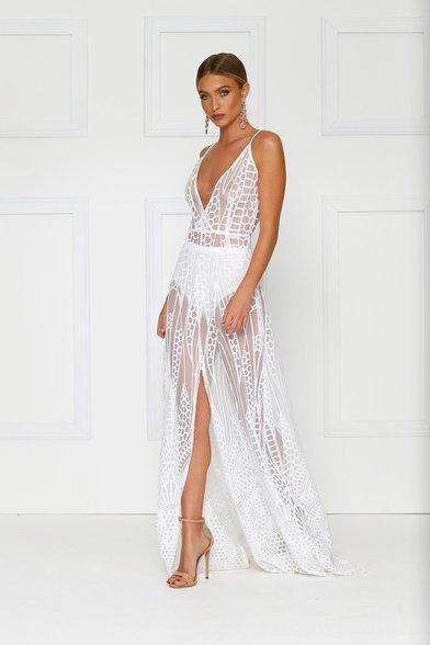 7b572655c71 ... Alamour The Label - Cristal Dress White