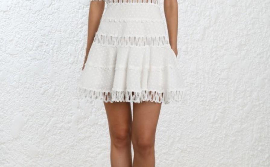 29c15c1933315e Zimmermann - Melody Off Shoulder White Dress Size 8