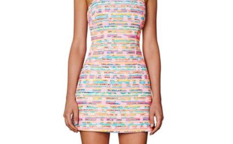 By Johnny Neon Weave Pocket Mini Dress The Volte