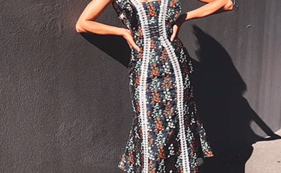 7b242cc190a3 KEEPSAKE THE LABEL 'Faithful Midi Dress' size 12 | The Volte