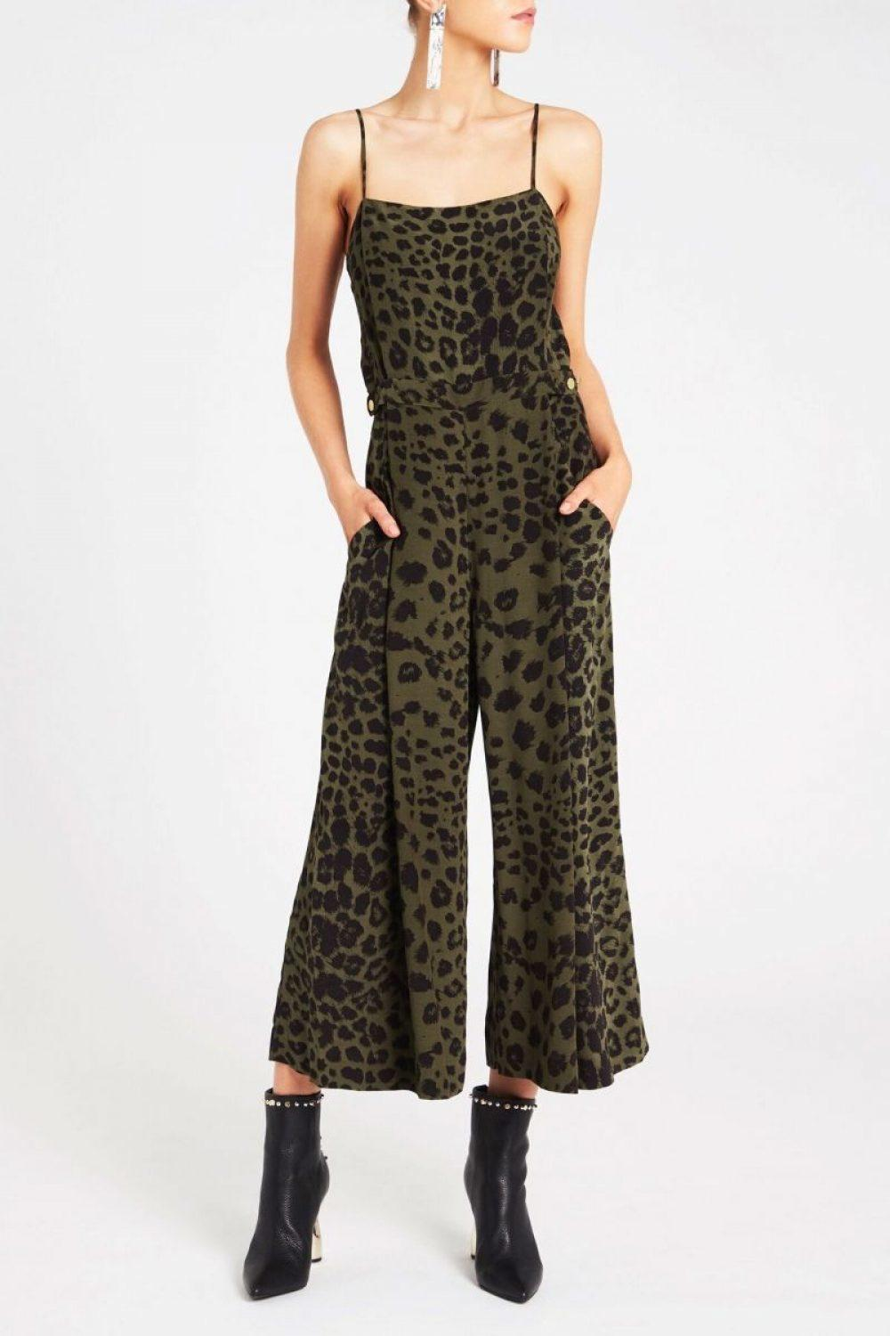 1eb0daf0dd SASS   BIDE  The Cats Meow Jumpsuit  animal print size 8