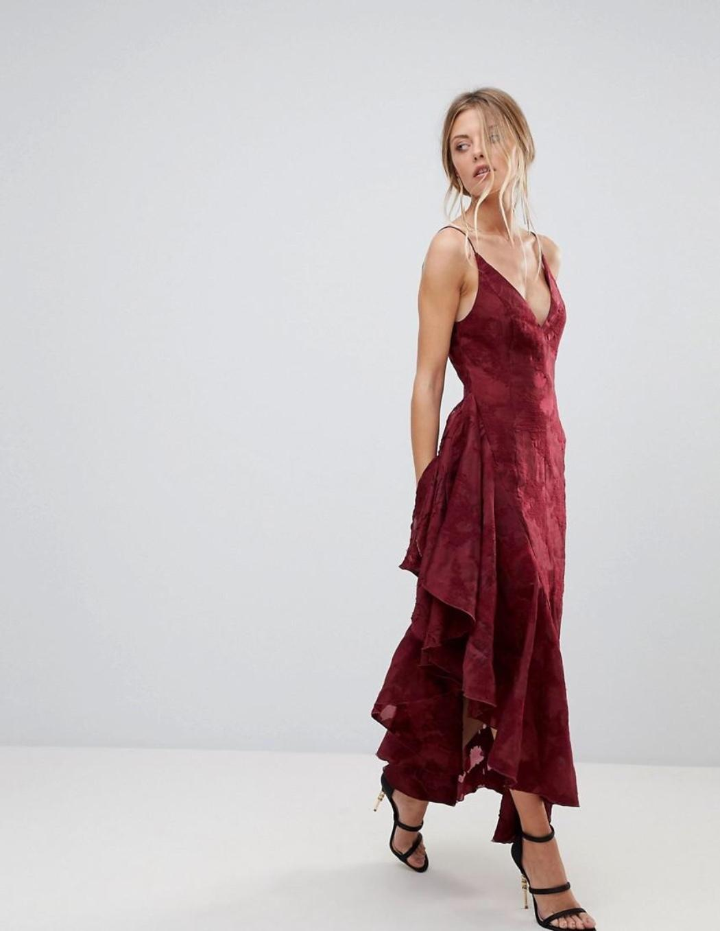 a9dd6c0a005c C/MEO collective Ember ruffle midi dress | The Volte