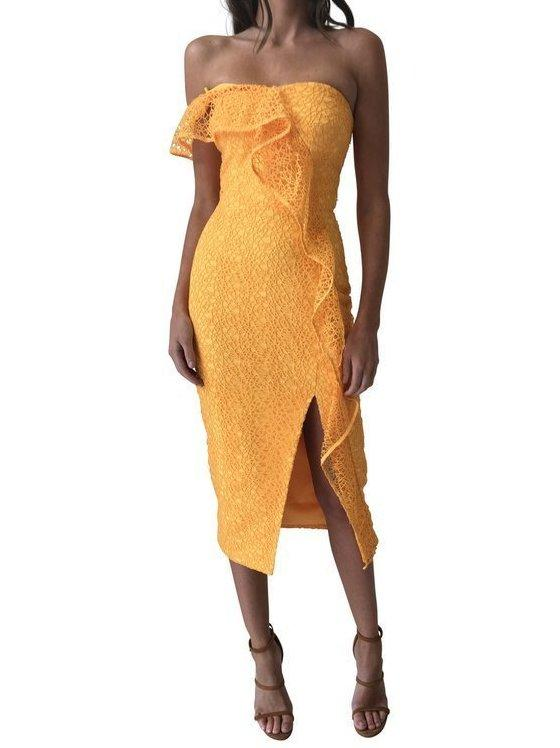 bf3008c744b4 Rebecca Vallance Baha Strapless Midi Dress size 10   The Volte