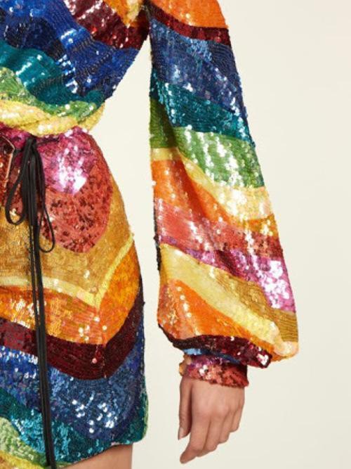 Attico Rainbow Wrap Dress Size 8 The Volte