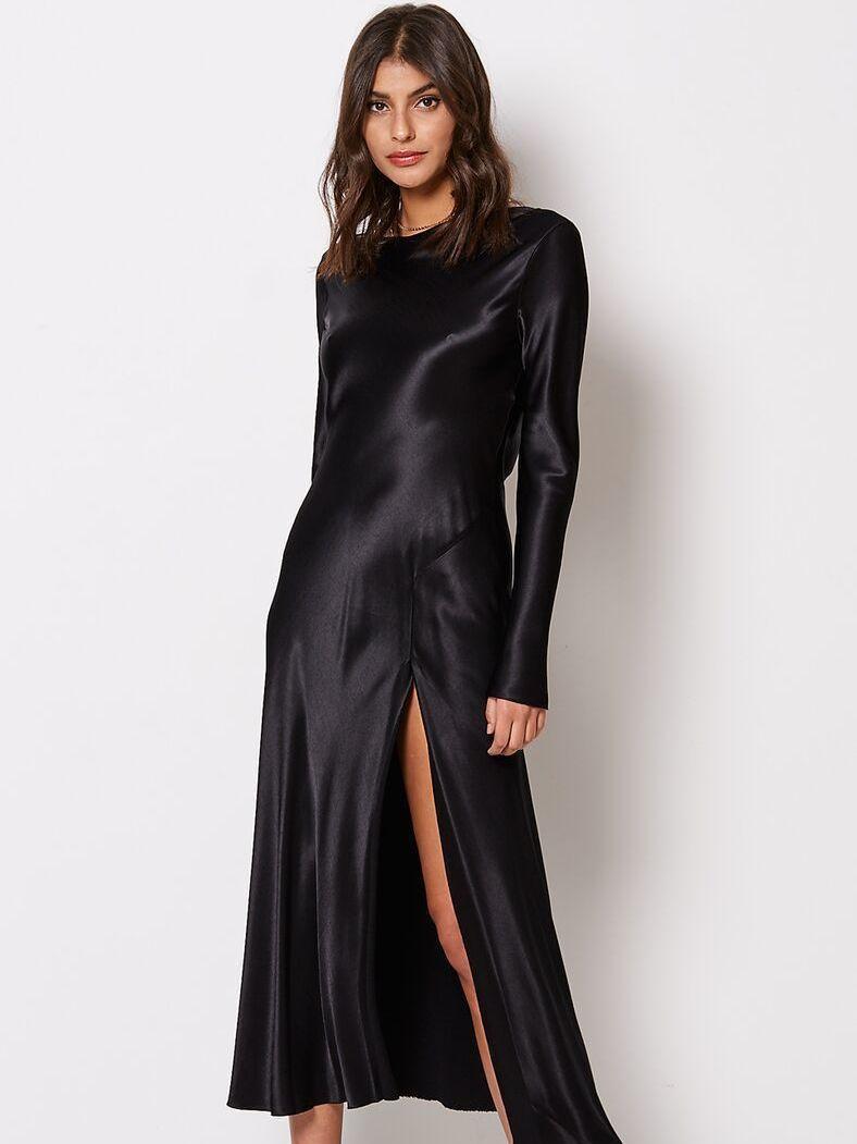 Bec Amp Bridge Kaia Long Sleeve Dress Black Size 8 The Volte