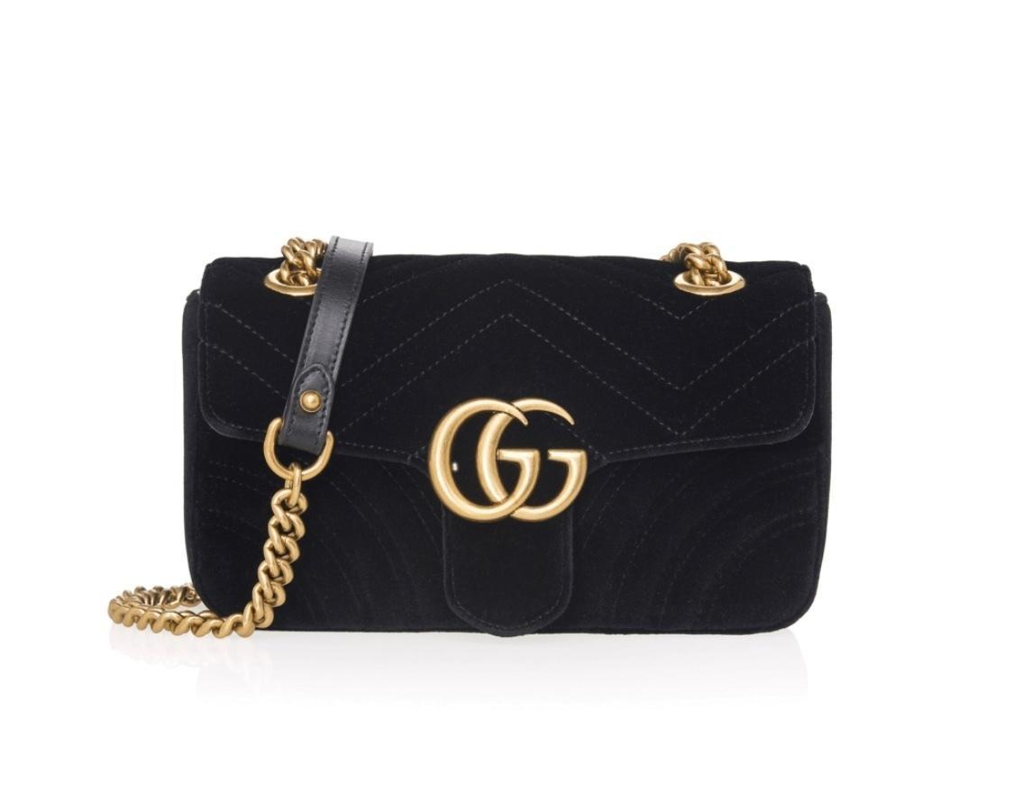 a7f4d8fa471 Gucci Marmont - Black Velvet ...