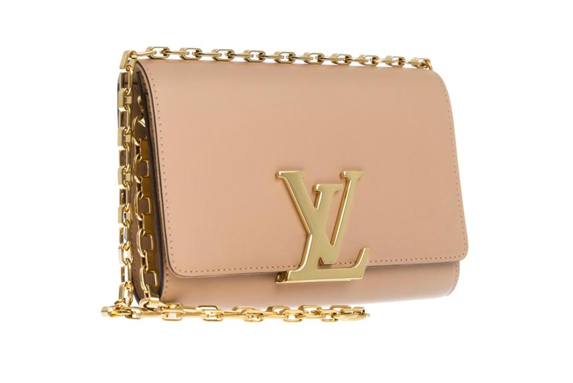 Louis Vuitton Chain Louise GM Smooth Calfskin Burgundy