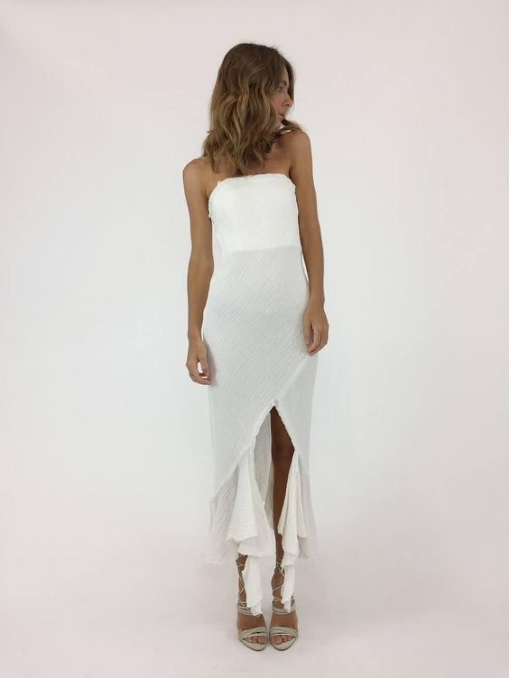 KITX Crushed Linen Strapless Dress Size 1