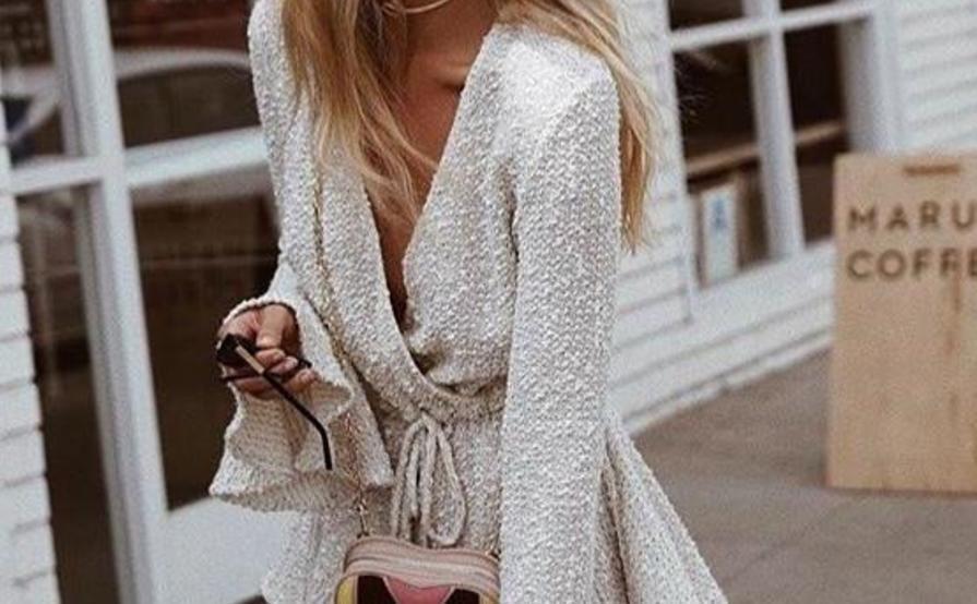 Shona Joy Aimee Drawstring Dress Cream Size 6 | The Volte