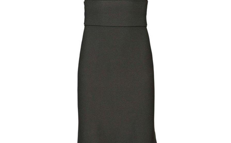 46080908dc23e0 Scanlan Theodore Crepe Knit Bralette Dress Khaki Green size 6 ...