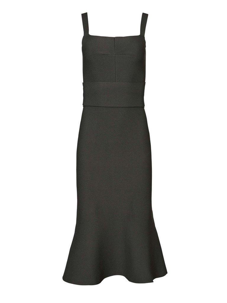 958f697806a811 Scanlan Theodore Crepe Knit Bralette Dress Khaki Green size 6
