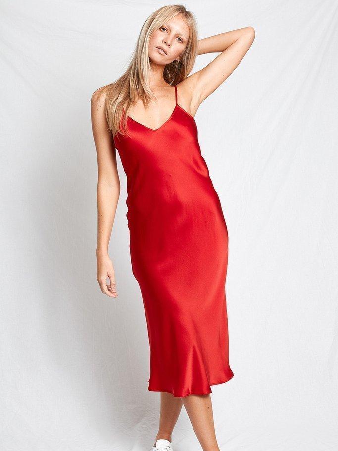 Sexy Wine Red Dress - Slip Dress - Sleeveless Dress - $52