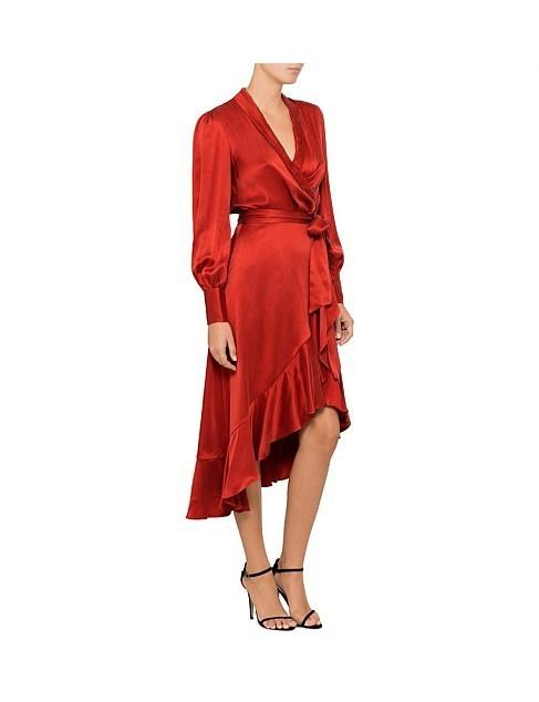 Zimmermann Terracotta Wrap Dress Size 3 | The Volte