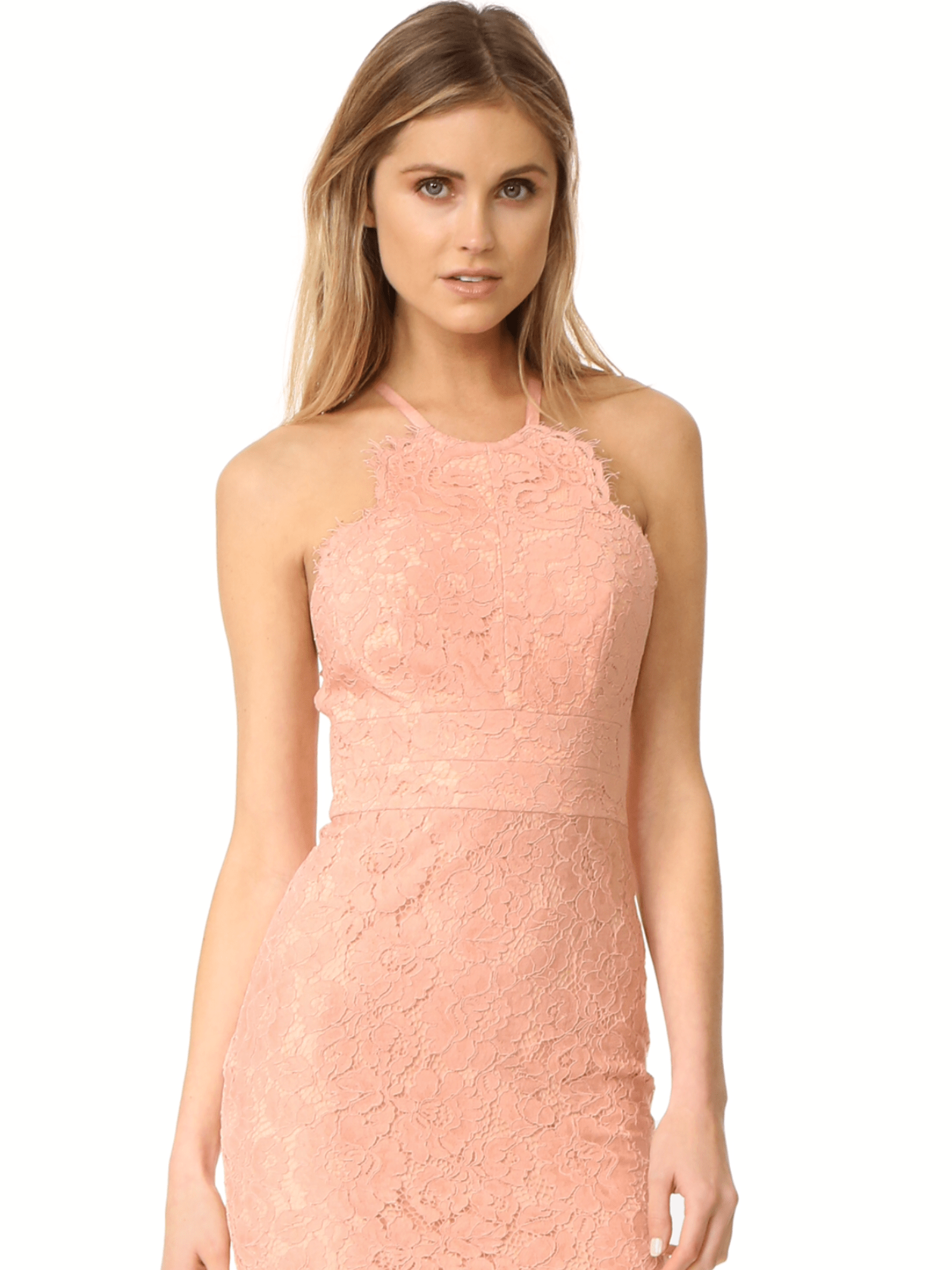 d904be98d7ee Lover Oasis Halter Dress Dusty (pink)   The Volte