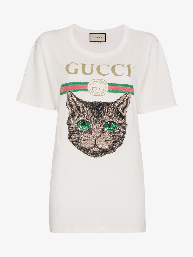 e935c4f8 Gucci logo - T-Shirt - Mystic Cat Sequin - Size M (Aus 10-12) | The Volte