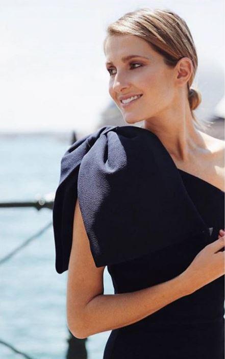 d52b7731a150 Rebecca Vallance Hamptons Midi Bow Dress - Navy | The Volte
